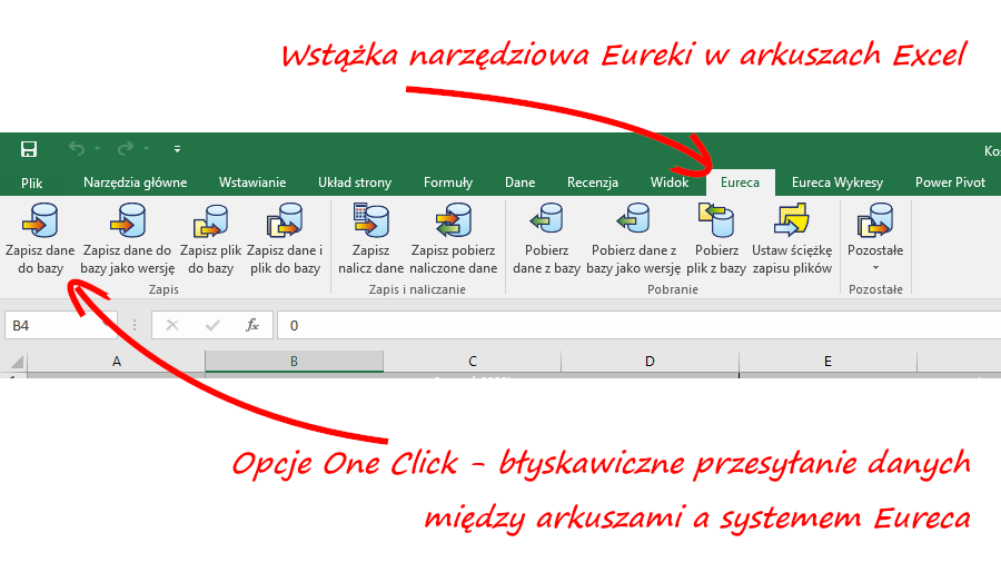 Integracja systemu Eureca z Excelem